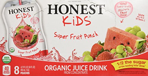 Honest Kids Organic Super Fruit Punch, 8 ct