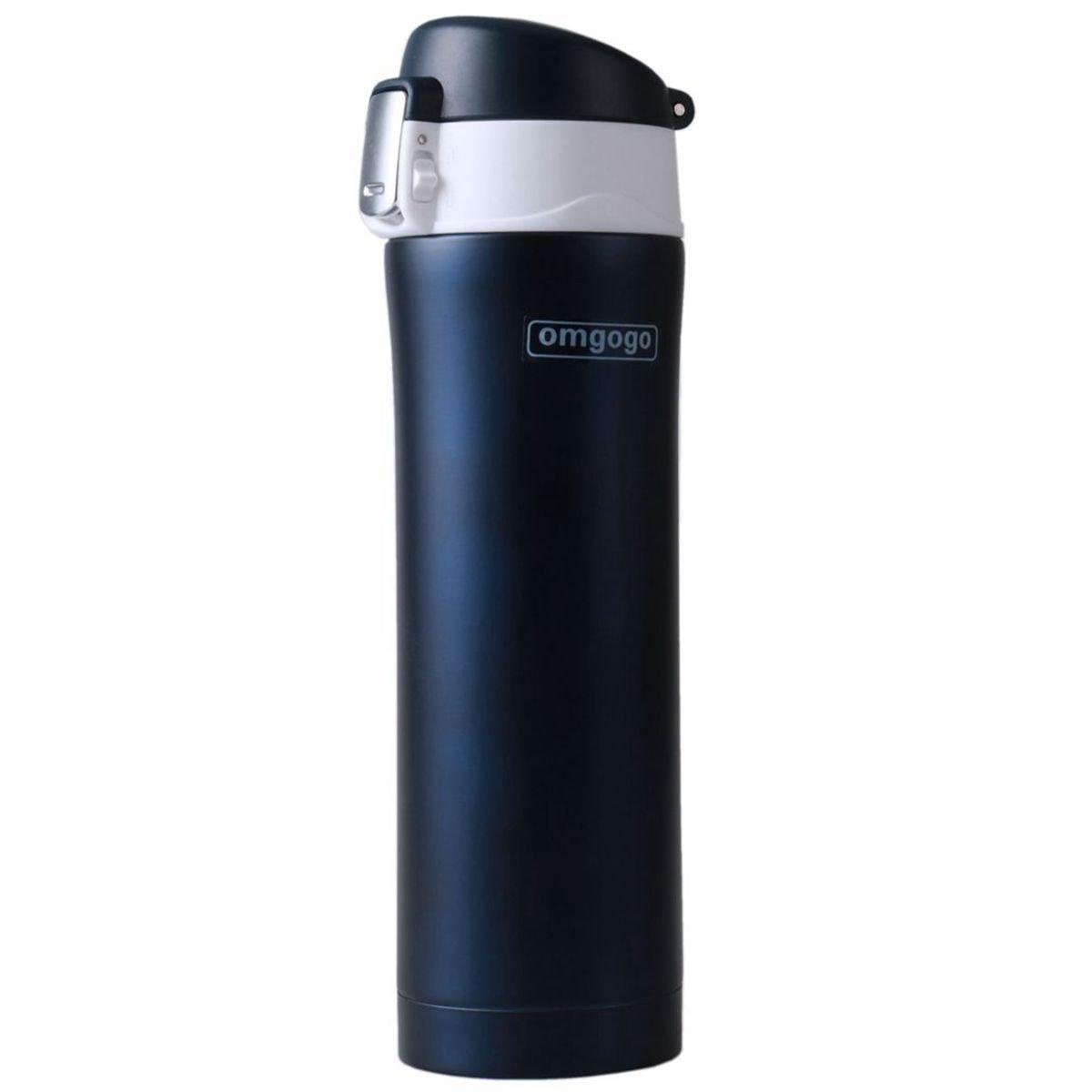 Omgogo Insulated Travel Mug Coffee Mugs Stainless Steel Lid Lock Prevents Leaks (16oz Blue)