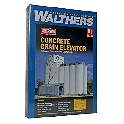 Walthers Cornerstone Series Kit HO Scale ADM Grain Elevator & Accessories: Toys & Games