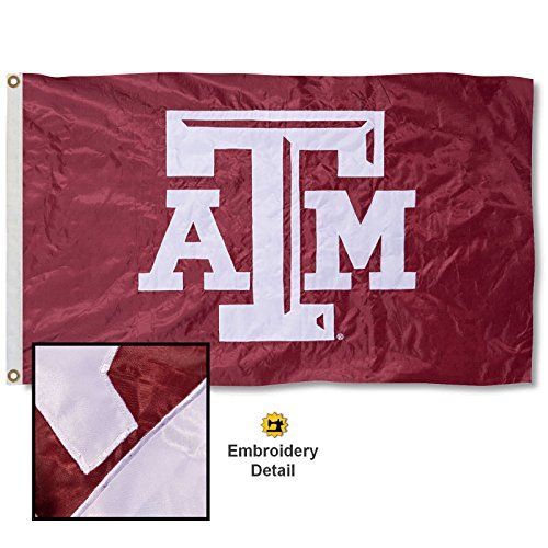 Texas A&M University Embroidered and Stitched Nylon Flag