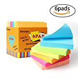 Innospo Sticky Notes 3x3 inches, 6Pads, 100 Sheets/Pad, 600 Sheets, Spring Colors Self-Stick Notes for Home, Office