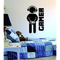 Boop Calcomanías Gamer con controlador Cita Etiqueta de la pared Vinilo Arte Diseño Gamer Fresco Divertido Sala de juegos