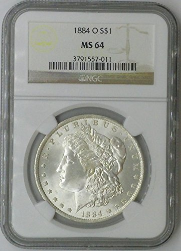 1884 O Morgan $1 MS64 NGC Silver Dollar Old US Coin 90% Silver