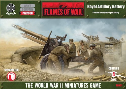Flames of War Boxed Sets - 25pdr Artillery Battery - FWBBX09