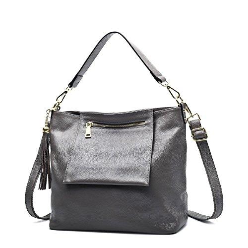 Mena UK-delle donne casuali morbida pelle borsa / sacchetto di spalla / messaggero / sacchetto Shell / ali / sacchetto della nappa