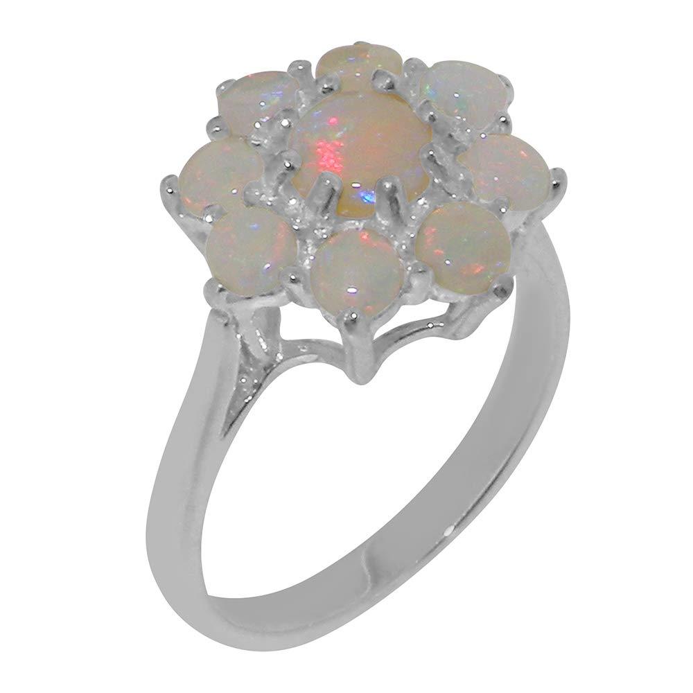 英国製(イギリス製) K14 ホワイトゴールド 天然 オパール レディースー クラスター リング 指輪 各種 サイズ あり   B07TD5GTF4