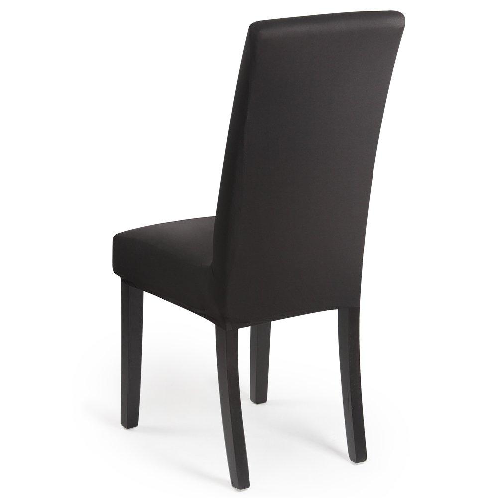 Housse de chaise D/écor 2 pi/èces housse de chaise Stretch-Housse Couverture de chaise de mat/ériau spandex /élastique pour un ajustement universel,tr/ès facile /à nettoyer durable Paquet de 2,Bordeaux