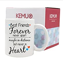 Best Friends Gifts Dishwasher&Microwave Safe Coffee Mugs Travel Mug Tea Cups Porcelain White