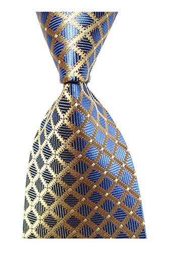 100% Silk Tie - Wehug Hot Men's Ties 100% Silk Tie Woven Necktie Jacquard Neck Gold Ties lg0002