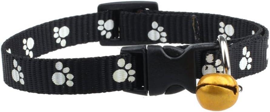 angelof abrazaderas de perro ajustable de nailon huellas con de las campanas