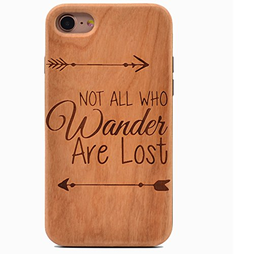 Not All Who Wander Are Lost Handmade Wooden Case Phone Cover made our list of Unique Camping Gifts For Men