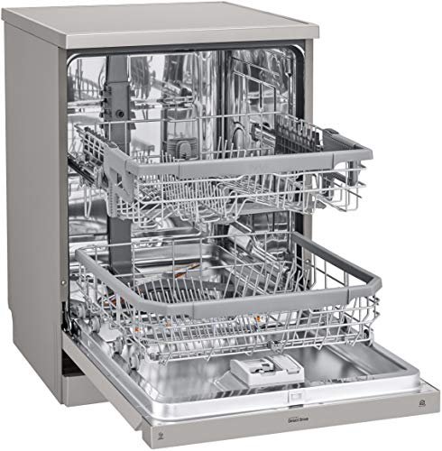 LG 14 Place Settings Wi-Fi Dishwasher Silver Tough Stain Removal