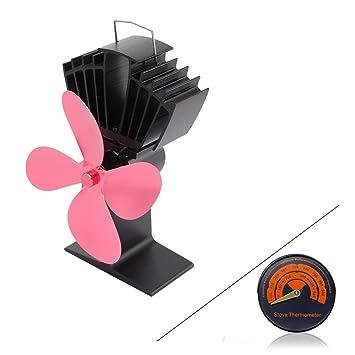 ZPL Ventilador para Estufas de leña - Chimenea Ultra silenciosa de Quema de Madera alimentada con