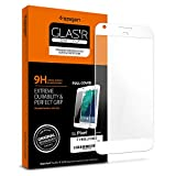 Spigen Full Cover Glass Google Pixel Screen Protector with Tempered Glass for Google Pixel - White