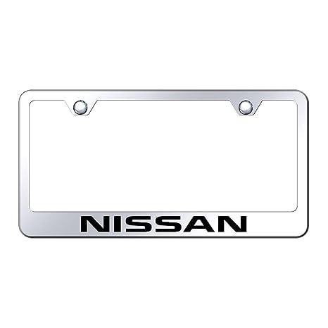 Amazon.com: Au-tomotive Gold Nissan License Plate Frame: Automotive