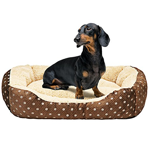 Animals Favorite Dog Bed, Luxury Embossed Rectangle Bed (Medium Dog Bed) by Animals Favorite