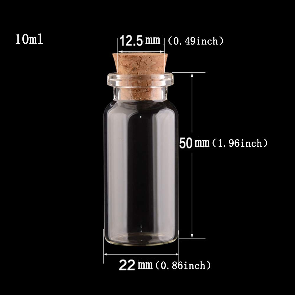 20 en Total Limeo Botellas De Vidrio con Tapas De Corcho Botella de Corcho Mini Botellas De Vidrio Mini Viales De Vidrio Mini Viales Vial Mini Botella Botella de Vidrio Peque/ña 10 ml