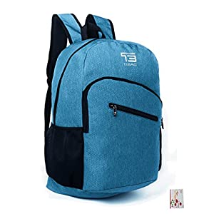SOMISS 15/25/30/35L Water Resistant Lightweight Packable Foldable Daypack Backpack (35L, LIGHT BLUE)