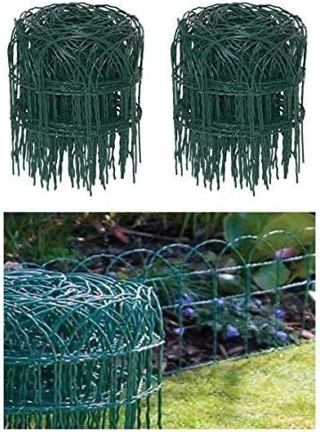 Garden Border Fence Green PVC Coated Lawn Edging Wire Mesh Edge Fencing Net Pet