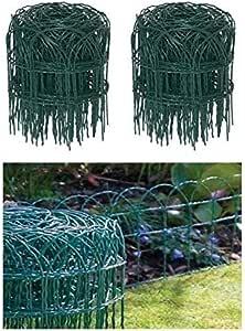 Garden Mile 0.25m x 10m Jardín Valla Fronteriza pvc verde Malla Alambre Borde Ribete Edge Césped Vallado: Amazon.es: Jardín