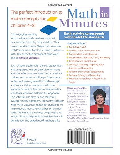 Counting Number worksheets math and money worksheets : Amazon.com: Math in Minutes: Easy Activities for Children Ages 4-8 ...
