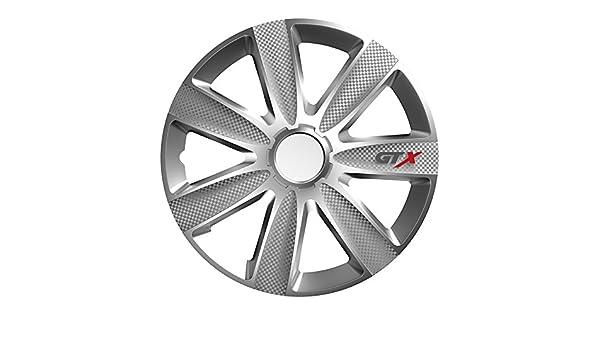 Tapacubos - Tapacubos Tapacubos Plata 15 Pulgadas 15 R15 # GS # apto para casi todos los vehículos estándar con llantas de acero por ejemplo Citroen: ...