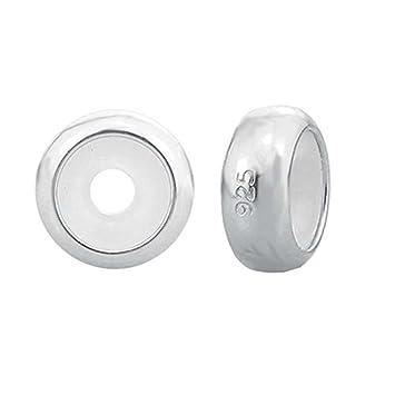 1e7f58766d7f Abalorio de plata de ley con cierre de clip para pulseras Pandora plata