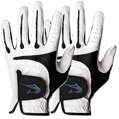 Swordfish Golf Gloves (2 Pack) - Durable Design, Premium Cabretta Leather (Large)