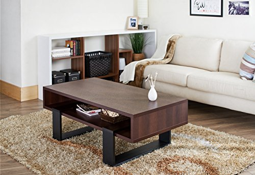 ioHOMES Monroe Rectangular Coffee Table, Walnut and Black by HOMES: Inside + Out (Image #3)