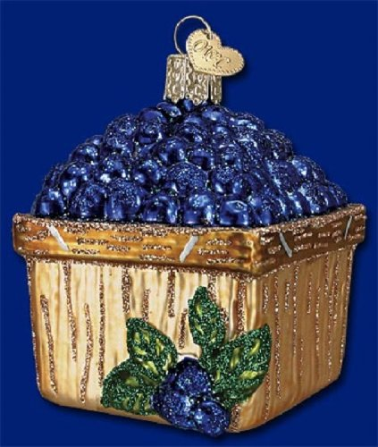 Old World Christmas Basket Of Blueberries Glass Blown Ornament from Old World Christmas