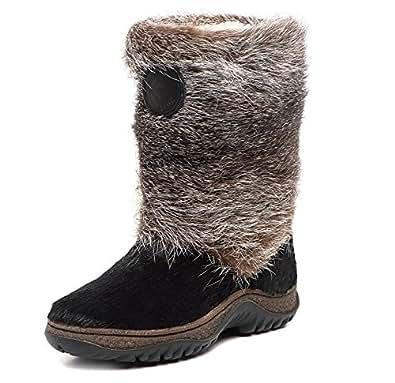 Amazon.com | MOREGOR Women's Natural Fur Winter Boots (Low