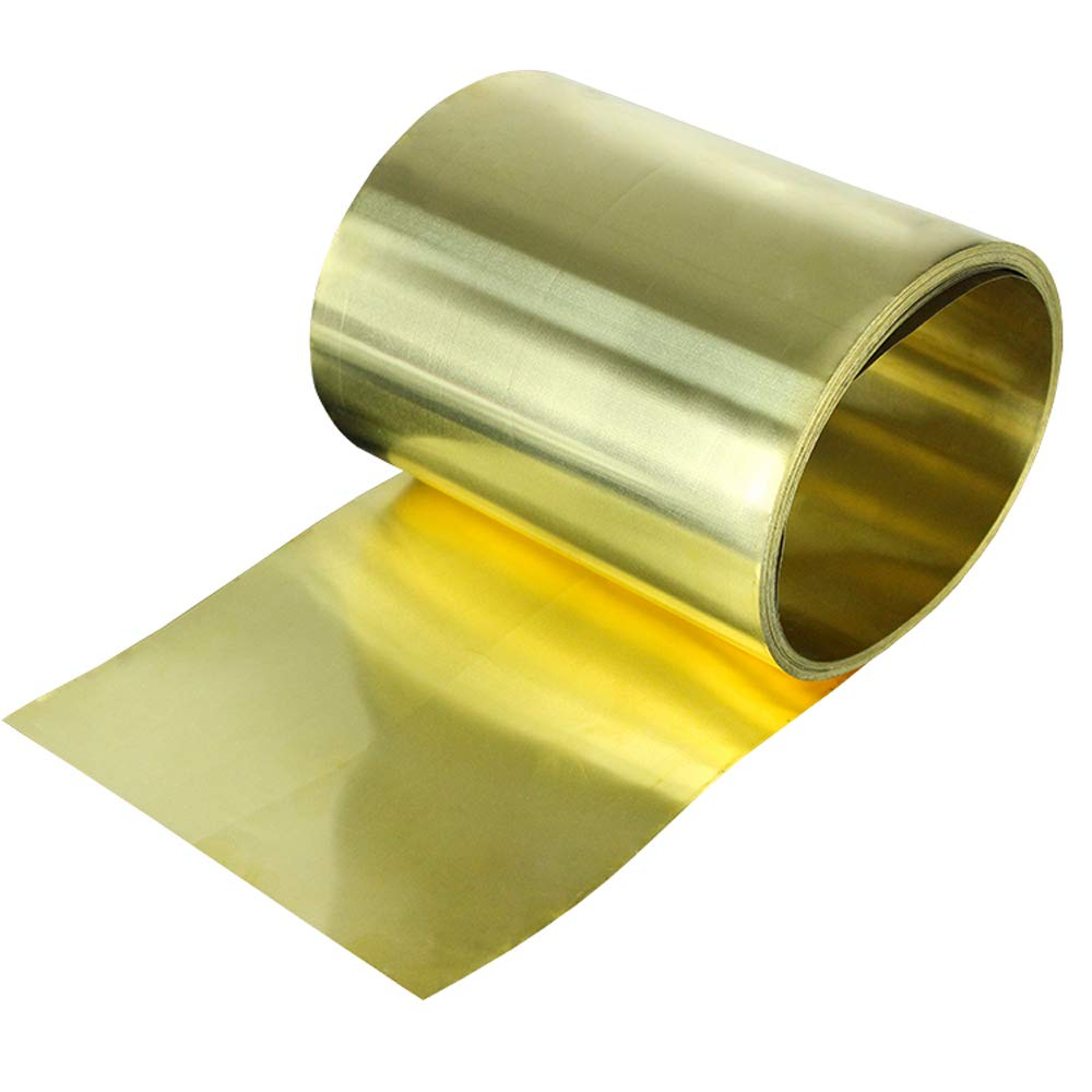 H62 Brass Flat Sheet Strip 1.5mm Thick Any Size Plate Bar Riveting Cutting Tool
