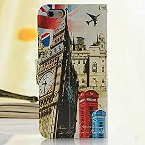ZXSPACE Fashion British Style Painted PU Full Body Case with Stand And Card Slot for iPhone 6 Plus