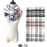 YQWEL Women Tartan Plaid Infinity Scarf Winter Cashmere Feel Warm Soft Circle Loop Scarves for Women (WB-10)