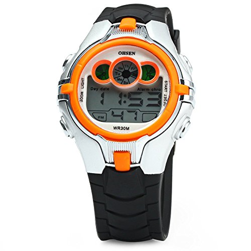 OHSEN Kids Sports Digital Watch Date Week Alarm Chronograph LED Lights by Yufeng Zhang
