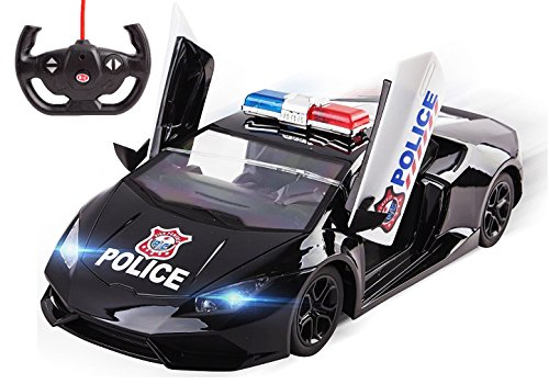 Fast-Toy-Police-Car-RC-5-Ch-Large-114-Sports-Car-Remote-Control-Police-Car-Toy-for-Kids-with-Front-Lights-Remote-Controlled-Opening-Doors-Toy-Police-Car