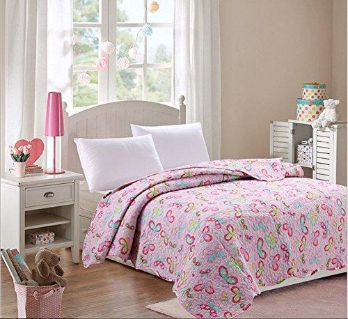 100% Cotton Children's Flower Patchwork Quilt Girl's Summer