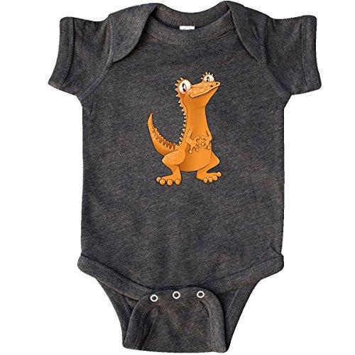 inktastic - Cute Crested Gecko Infant Creeper Newborn Retro Heather Smoke -