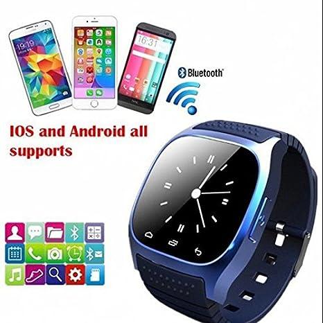 Pulsera Deporte Reloj Inteligente, Smartwach de fitness reloj inteligente para Apple Samsung HTC iPhone, GPS deporte Fitness pulsómetro reloj inteligente, ...