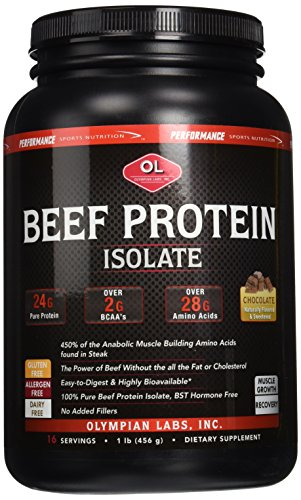 (Olympian Labs Beef Protein Isolate Chocolate 1 lb)