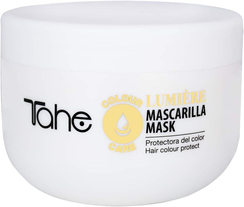 Tahe Lumière Express Mascarilla Capilar/Mascarilla para Cabello Protectora de Color con Aceite de Argán y Keratina, 300 ml