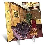 3dRose Jos Fauxtographee- Mizpah Hotel Lounge - One of The Many lounges in The Mizpah Hotel in Nevada - 6x6 Desk Clock (dc_291362_1)