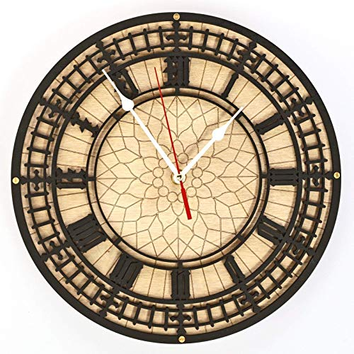 BIG BEN Handcrafted wooden wall clock Unique Vintage large housewarming one-of-a-kind victorian home decor gift london tower england -
