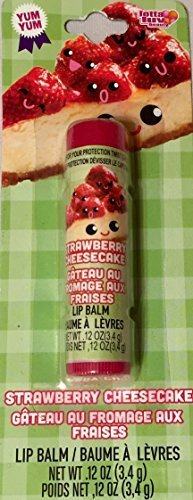 Strawberry Cheesecake Flavored Lip Balm Tasty Berry Smooth Soft Stick Unique Gift Stocking Stuffer by Lotta Luv