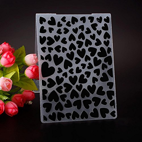 WXLAA Simple Design Lovely Heart Pattern Plastic Embossing Folders for DIY Card Making Decoration Supplies Large Heart