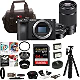Sony a6500 Mirrorless Camera 55-210mm Lens 64GB SDHC Accessory Bundle