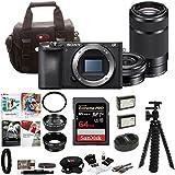 Sony a6500 Mirrorless Camera 55-210mm Lens 64GB SDHC Accessory Bundle
