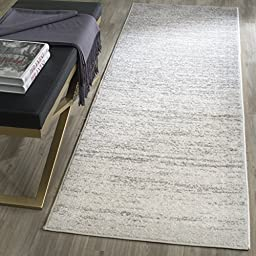 Safavieh Adirondack Collection ADR113B Ivory and Silver Modern Abstract Runner (2\'6\