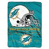 Dolphins OFFICIAL National Football League, Prestige 60x 80 Raschel Throw