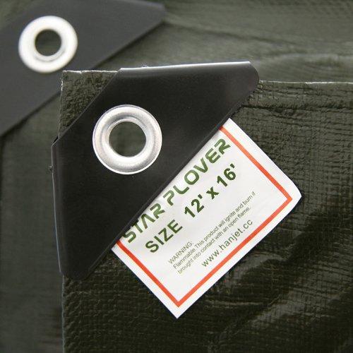 Star Plover Heavy Duty Tarp Camping Garden Covering Tarpaulin Army Green 12'X16' Tarp